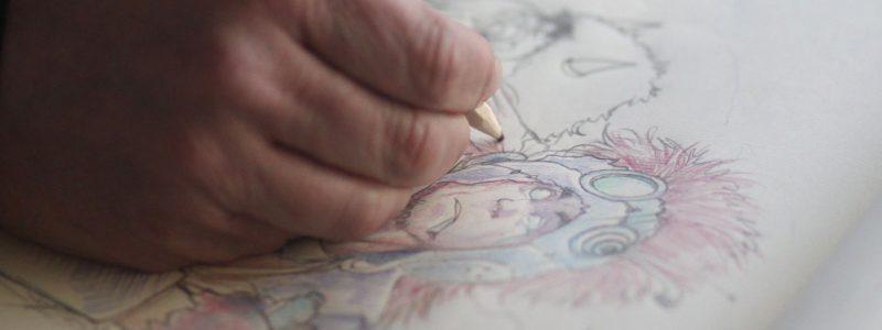 Un disegnatore al Prana